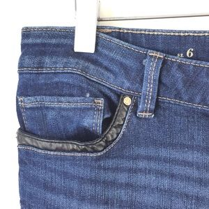 White House Black Market Jeans - WHBM The Skimmer Faux Leather Trim Zipper Ankle 6